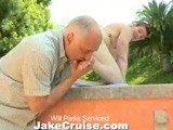 gay porn Will Parks Serviced || One of the Many Benefits of Owning Jake Cruise Media Is That I Get to Play With All of the Interns. Will Parks Is Busy Cleaning Off the Grill for Our Weekly Bbq When I Decide to Fire Up the Cameras and Have My Way With Him. I Peel Off His Shirt and Reveal Will's Chiseled, Smooth Body. He Has Spike-like Piercings Through His Nipples so I'm Extra Cautious When I Suck on Them. I Don't Want to Wind Up With a Tongue-ring! as You Probably Have Already Guessed, Will's Nipples Aren't the Only Thing I Suck On. I Make Sure His Cock, Ass, and His Gorgeous Feet Get Plenty of Attention Too. It Starts to Get a Little Chilly Outside so I Follow Will Into the Living Room Where He Fucks My Face. It's so Fucking Hot Staring Up At Will While His Cock Slides In and Out of My Throat. I Have My Fill of Cock and so It's Time for Dessert. I Suck on Will's Balls While He Strokes Himself. He Pops Off All Over My Face and Mouth. I Love When It's My Interns First Day on the Job.