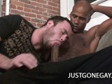 Hot Twink Ryan Starr Suck Billy Long's Big Black Cock Before Taking It All the Way to His Ass.