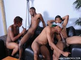 Our Newest Thug Bang Reaches Its Thrilling Climax In This Five-way Video. Watch the Boys Bury Their Dicks Deep In Black Ass and Explode All Over the Set With Their Throbbing Hard Chocolate Cocks.<br />