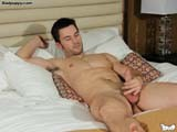 gay porn Smooth Stud Fingers An || Austyn Lays Back on the Bed, Closes His Eyes and Begins Stroking His Cut Cock. as He Gets Himself Horned Up and Excited, He Begins Fingering His Hole.<br />