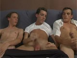 gay porn 3 Guys Masturbate || It All Starts Out With Three Horny Young Men. They're Just Hanging Around on the Couch and Casually Playing With Their Balls. They Don't Talk but They Get Harder and Harder and Get Into Full Jerking Off Mode. by the End, the Guys Are Fully Exposed and Justin Has Even Sucked a Bit of Cock for Good Measure.<br />