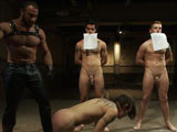 gay porn Dylan Spencer Van Seba || Three hot boys are auctioned off to the highest bidder during a live show.