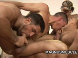Latino Muscular Soldiers Having a Wild Six Some Group Sex In the Bunker.
