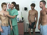 gay porn Group Sperm Donation - || Three boys show up at the clinic to participate in clinic's sperm donation campaign!
