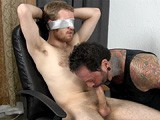 It's the First Time 19-year-old Johnny Has Ever Been Tied Up and Sucked Off by Another Guy, and He Likes It!<br />