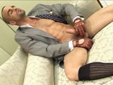 gay porn Glove Love || Damien Crosse turns up the fetish dial a few notches this week, with this steaming solo video. Dressed up impeccably in a light grey suit and dark blue tie, he completes the look to perfection with sheer OTC socks, and a pair of leather driving gloves which feel amazing against his hard cock. And the thing about Damien is that you can see from his face that he gets completely into anything we throw at him (we love him for that) and this week its no exception. To see him working his cock with his gloved hands is just too hot for words, especially when he gives us a rear view of his jock-strapped ass playing with his dicks and cheeks. It'll have you wishing you were there to push your face right between his cheeks. A hot reminder why this bad boy is still one of our favourite MAP Men.