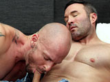 "gay porn So Much For Playing Go || Mitch Vaughn and Brock Landon tell their wives they're playing golf, but it's just a cover up for their affair; naturally, a little rain isn't going to affect their ""game!"" These two muscular studs suck each other's cocks before beefy Brock gets on his back and throws his legs up in the air. Mitch eases his hard dick into his buddy's ass, fucking him missionary before they switch it up to other positions. When Mitch is ready to blow, Brock gets down on his knees, taking Mitch's hot load of cum all over his broad chest."