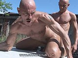gay porn Outdoors Bb Fucking || Leeroy and Rio Flip Back and Forth Outside on a Table.