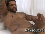 Latino Dude Rodolf Rhodes Stroking His Hard Cock for You to Watch.