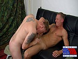 gay porn Soldier Fucks Ginger Hard || Private Tyler Is Ready to Help Out a Fellow Soldier With a Battlefield Injury. Our Sexy Ginger Marine Chris Needs a Little Foot Massage, and Tyler Is Just the Man to Give Him a Helping Hand. Both of These Military Studs Are Clad In Camouflage. but Not for Long! as Tyler Begins Pressing on Chris' Muscled Legs, a Swelling Develops In His Crotch.