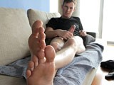 gay porn Flip Flops And Bare Feet || Chris's perfect feet look amazing as he slowly wiggles his toes as he teases the camera with his flip flopped feet. Aware that the camera is watching him but refusing to look at the lens. Just a super hot twink showing off his feet and teasing us with the one thing we all want to see! He lets his well worn flip flops fall off of his beautiful feet then props his big wide soles up on the table. He wiggles his perfect long toes at the camera then reaches in his pants to grab his thick cock which is begging to be free! He slowly works his pole while shows of his beautiful feet from every angle then busts a big load of cum all over his belly!