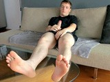 Cocky Football Jock Feet