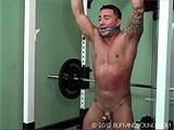 gay porn Vic Scorp Gym Bound || See More on Frank Defeo Boundage Site