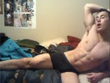 Muscle Stud Wyatt and Tumblr Favorite Wyatt Jerks Off for the First Time on Camera.