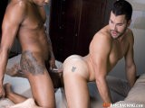 gay porn Danny Lopez And Colin Black || Colin Black Loves a Big Butt on His Bottom Boys, so When Danny Lopez and His Perfect Scrumptious Ass Walked Onto the Set, We Knew It Was the Perfect Match. Danny Climbs on Top of Colin on the Bed and Starts Making Out With Him as Colin Reaches Around, Inserting His Monstrous Black Meat Deep Into Danny and Starts Plowing Away At His Ass. Danny Takes Huge Cock Like a Pro and Jumps Onto It In Reverse Cowboy Style. Colin Then Throws Danny on All Fours and Licks His Hole Clean, Before Stabbing Danny's Insides With His Massive Black Cock Again. There's Even Some Dildo Play to Help Stretch Him Even Wider. <br />