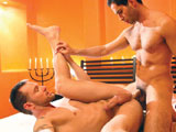 gay porn Michael Lucas And Math || 'Candlelight glows around Michael Lucas as he romances Mathew Mason, a secret lover he has special affection for. They kiss slowly and passionately, and each time their lips meet its a fervent and unmatched union. Mathew runs his hands up and down Michaels body before settling between his legs and giving him a slow and sensual blowjob. Michael cant keep his own hands off of Mathew -- he pushes the sensual bottom onto his back and raises his firm butt. With Mathews cheeks spread apart, Michael affectionately licks and kisses the Australians hole, making it a wet and slippery orifice. Michael shows Mathew his aggressive side and slips into his ass with his hard cock. The top begins slowly, but when hes sure Mathew can handle it, he thrusts harder and harder while Mathew is on his side and back.