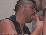 gay porn Rugged Men In The Hallway || Brandon Hawk Initiates Newcummer Luca Bondi to the Club.<br />