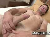 Gay Porn from ManSolos - Latino-Wanking-His-Long-Woody