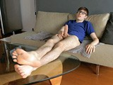 "gay porn Bossy Twink Feet || This nerdy twink is no stranger to role play and he definitely likes having his big size 11 bare feet worshipped. ""If you're gonna do it, I expect you to do it right. Show me how much you need my feet in your face and follow my directions to the letter and you'll do fine. Got it?"" Bossy twinks are the best! He stretches out on the couch and props his big male feet up on the table as he looks down at the camera with a cocky grin on his face. He peels off his smelly socks and shows off his beautiful bare soles while he plays with his big and curvy 10 inch cock. Sliding his hand along the the thick shaft as he thinks about someone grovelling at his feet. Sniffing between his toes before licking every inch of his perfect bare soles. He blows a load of cum all over his belly then looks up with a charming look of relief. Fucking beauti"
