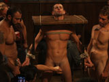 gay porn Spencer Jake Cole John || Jake Steel is humiliated in an oily orgy at a bar.