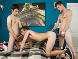 gay porn Jack Club || Sexy twinks hook up for threesome of hot sucking and fucking