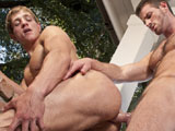 gay porn Rusty Stevens And Marc || Marcus gasps and pleads for more as Rusty pummels his ass.