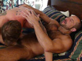 gay porn Arpad And Trent Bts || In this week's bonus feature, we give you a fly-on-the-wall behind the scenes look at one of hottest pairings from our spanking party weekend. Before Arpad and Trent got into the paddling and smacking, we took them into a private room at the Manhunt Mansion and turned our cameras on them to see what would happen. These two had instant chemistry; the blonde boyish bottom and the big hairy daddy top. We didn't need to direct them much, in fact, as you'll see, we got the idea that they didn't want to be distracted by our direction. After awhile we just let them go at each other and had our pro and handheld cameras ready to capture whatever they might think of next. Nothing like some hot daddy/boy action to kick off a spanking party!
