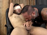 gay porn Tony || Big, Uncut Tony Is Quickly Tied to the Hazing Chair With Ropes and Blindfolded. He Moans and Squirms as He's Felt Up and Lightly Tickled, but His Hard Dick Proves He's Enjoying It. After Being Deep-throated a Few Times, Tony Shows That He's Up for More, and In No Time He's Got a Lubed Finger Up His Butt. He Rides Out the Hard Finger-fucking and At Last Creams All Over the Pledgemaster, Who Sucks Tony's Sensitive Cock Clean.