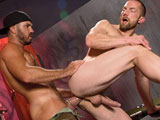 gay porn Damien Stone Fucks Adam Herst || Damien Stone and Adam Herst try to warm themselves up over a burning fire. They're quickly locked in each other's arms, kissing and groping. Damien nurses on Adam's big long dick, feeling it swell up even larger with every slurp. Then to generate more heat, he tends to Adam's asshole. Both men are soon overwhelmed with fiery intensity, moving Damien to slam his engorged cock up Adam's manhole. They fuck recklessly in numerous positions totally locked and loaded with Damien churning in and out of his buddy's ass.