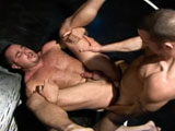 gay porn Wrestling Hunks 01 - Part 1 || After some leg and arm locks, this guy gets rammed on the mat.