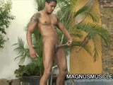 Yummy Latino Strokes Long Cock || 