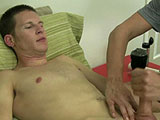 gay porn Chase - Part 3 || Mr. Hand then pulls out a vibrator and drives him nuts making him moan and groan in pleasure and pain. He then lubes up that big cock and strokes it making Chase moan some more. I then point out the Fleshlight and he states he has never used one of those before.