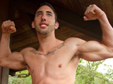 Shawn - Hot Muscle Jock Busts a Big Load Outdoors!