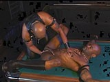 gay porn Pool Table Fisting || Flex Deon Blake Gets Fisted by Leon Masters.