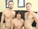 gay porn Delivery Special || While His Wife Is At Class, Jake Steel Calls His Pizza Place and Asks for the Usual. Alex Andrews Arrives With Trainee Jacob Marteny but Soon Disappears to the Bedroom With Jake. Tired of Waiting, Jacob Goes to Find Out What's Keeping Them...and Finds Alex With Jake's Cock Down His Throat! Rather Than Run, Jacob Joins In on the Fun.