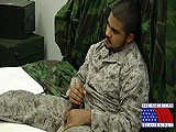 gay porn Marine Plays With His Privates || Private Alex Has Spent Some Time Fighting the Bad Guys for His Country as a United States Marine. He Even Took Fire a Couple Times and Protected His Base From Enemy Attack. When This Sexy Bear of a Marine Starts to Rub on His Cock, the Swelling Is Evident Right Away. When He Pulls His Dark Thick Cock From His Pants, It's Already Standing At Full Attention. Continuing to Stroke, It Is Obvious In His Dark Brooding Stare That He Is Very Involved In His Current Mission.