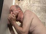 gay porn Daddy Is A Cock Sucker || Daddy Marc Fletcher Simply Loves Sucking Cock and Is Always Happy to Man the Gloryhole Even If Its Not His Turn. He Sure Did Enjoy Playing With This Giant Piece of Man Meat That Was Put Through and He Sets It to Spill Its Seed All Over In the End.