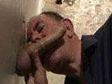 Pierce Was on Duty by the Glory Hole and Got a Pleasant Surprise When a Giant Cock Was Put Through for Him to Play With and Satisfy. He Put In His Best Effort and Makes This Nice Big Throbbing Cock Spew Its Load.