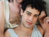 gay porn Dorian Slay And Rob Benson || Greasy hairy surfer, Dorian Slay, loves cock on all levels. His boyfriend, Rob Benson, is there to provide what services he can. They make out, suck some hardcore dick and move into the fucking. Oddly enough, Dorian is the submissive one in this video. He's normally a Dom and rarely takes it up the ass these days. Rob is pent up and plows Dorian's ass hard and long as they both get sweaty in their hot little NY apartment.