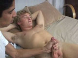 gay porn Cameron And Michaels - Part 2 || Cameron starts thumbing through the magazine and likes what he sees. He gets a semi and starts to feel his cock through his pants just as Michael is walking into the room. Cameron is horny and doesn't look guilty for being so. In fact, he gives Michael one of those come hither looks.
