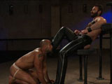 gay porn Wilfried Knight And Leo Forte || New dom Wilfried Knight uses and abuses Leo Forte.