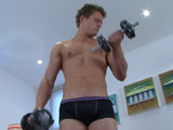 gay porn Aaron Pumps Up Body || One of your favourite straight young pups is back; Aaron is making a playful video and showing off his hot and slightly more muscular body. He seems more cheeky than usual to me and lets you in on some of his fantasies which include army girls and large orgies! After getting his blood pumping with a short workout he's soon pumping up a rock hard boner and decides to head off to the bathroom to lather up his hard cock in the shower! He gets hot and steamy before moving to the bath tub to fire a big load of cum all over his chest. A bit of tension released from this cheeky str8 lad.