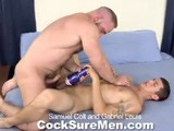 gay porn Samuel And Gabriel || Muscle Daddy Samuel Colt Comes Home Bearing Gifts: a Fleshjack and a Butt Plug. He Finds His Young Lover, Gabriel Louis, Diligently Poring Over His Textbooks, Busy Studying for His Upcoming Exam. Samuel Empties the Bag Containing the Gifts Unto the Bed and Gabriel Asks, &quot;what Are Those?&quot; &quot;you'll Find Out,&quot; Replies Samuel as He Pulls Out His Hard Cock. Gabriel Sucks on His Stiff Cock, Just Like His Daddy Likes It. Samuel Returns the Favor and Takes His Time Tasting His Young Boyfriend's Hot Uncut Cock and Foreskin. Samuel Picks Up the Fleshjack and Guides Gabriel's Cock Into It. Gabriel Louis Moans In Ecstasy. Wanting to Join In on the Fun Samuel Takes Turns Using the Fleshjack. At One Point Samuel Guides Both of Their Cocks Into the Fleshjack and They Fuck It Together. Samuel Colt Tosses Gabriel's Legs Back, His Ass Propped Up In the Perfect Position for Him to Eat It Up. After Gabriel's Hole Is Wet Enough He Takes the Butt Plug and Gently Stuffs It Down Gabriel's Ass. Now That Gabriel's Hole Has Been Stretched Enough, Samuel Stuffs His Hard Cock Into It. He Slips His Throbbing Cock In and Out of Gabriel's Tight, Young Ass In the Missionary Position. Gabriel Bends Over for Samuel and Lets Him In, Enjoying Every Stroke of Samuel's Prick. After Pounding Gabriel's Sweet Ass Doggy Style, Samuel Pulls Out and Cums All Over the Small of Gabriel's Back Then Licks It Off. Gabriel Lays Down and Jerks Off as Samuel Colt Licks His Nipples. After a Matter of Seconds Gabriel Louis Moans and Shoots a Thick Load Up Into the Air. It's Always Fun to Play With Toys.