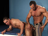 gay porn Nate Karlton And Marc Dylan || Marc Dylan gets a good pounding by a highway patrol officer