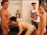 gay porn Frat Bitch || After giving Jake a hard time for being a total pussy, we decided he needed to suck some cock.