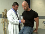 Doctor Morgan Black gives Mitch Vaughn a bondage check up that he will never forget.