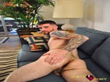 gay porn Cyrus Vaughn Gets Dirty || Cyrus Vaughn Is the Perfect Tattooed Pacific Northwest Otter. He's a Bartender and Gets Plenty of Attention From Girls and Guys. He's Most Comfortable Having Sex With Women. But, When He Gets a Chance to Suck Some Cock, He Loves the Idea. He's a Huge Sports Fan and Would Rather Watch the Game on Tv Than Go to the Beach. Once We Get to Know Each Other a Little, He Unzips His Pants and Pulls His Thick Schlong Out Through the Fly of His Boxers. He Keeps Stroking for Awhile Until I Reach In to Get a Measurement. After I Got His Dimensions, He Wanted to Turn the Tables on Dirty Tony and Get a Measurement of Mine. It Was All a Ruse to Get His Hands on My Cock, Which I Didn't Mind. as Soon as He Got Near It, His Pink Lips Were Wrapped Snuggly Around It and He Was Sucking to His Heart's Delight. the Guy Was Such a Good Cocksucker, I Couldn't Resist. Especially When He Kept Looking Up At Me With the Those Crystal Clear, Blue Eyes. Every Once In Awhile, He Would Take a Break From Sucking to Rub His Otter Beard Against My Dick- Making the Blowjob That Much More Intense. This Boy Knew How Use His Mouth and His Hands Enough to Get Me to Completion Before I Knew It. as I Stood Over Him, He Parted His Lips In Order to Catch the Pearly Prize on His Tongue. His Eyes Were Shut so Tight, I Was Afraid I Squirted In One of Them. He Assured Me I Didn't. Then He Leaned Back on the Couch and Milked His Monster Cock Until It Spit Several Streams of Jizz. He Smiled Happily and Told Me He Was Ready for His Next Video Anytime.