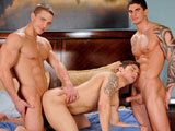 gay porn Neighborly Invasion || Marcus Mojo, Tyler Torro and Jimmy Clay in a sexy threesome