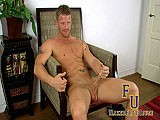 gay porn Muscle Hunk Rubs One O || Muscle Hunk Jeremy Stevens Is Live In the Frathouse and Is Chatting With His Viewers. Jeremy Stays Active by Working Out, Swimming, and We Learn That He Go-go Dances In San Diego! He Is Quite a Character and His Slick Answers Are Charming the Pants Off Viewers Everywhere. Jeremy Peels Off His Shirt and His Hot, Ripped, Tattooed Body Is Revealed. Jeremy Talks About His Armpit Fetish and Also About His Airport Bathroom Hookup. Hot! He Stands Up to Give a Tease, Showing Off His Assless Underwear. His Tight Bubble Ass Cheeks Look Very Welcoming. Jeremy Gets Down to Business and Shoves His Hand Down to His Crotch and Grasps His Growing Penis. He Starts Stroking It and Playing With His Balls. He Gets Up and Takes Off His Sexy Underwear and Smells Them Per a Request From a Watcher.