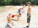 gay porn 7 Defiant Jocks Get Punished || Lusty Camp Counselor Dakota Enforces the Daily Activities With Strong Arming Seven Defiant Jr. Jocks Into a Series of Calisthenics. Nude Jumping Jacks and Push-ups Are Part of the Rowdy Routine. Brad Bones Gets Testy With the Staff Sergeant. Star Throws Coins At Staff Sergeant and Bribes Him of Taking His Pants Off! Then the Real Tackling Begins!